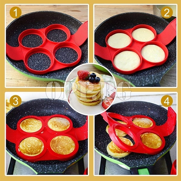 Силиконова форма за яйца и палачинки 4 in 1 Pan Cake Maker